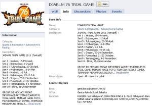 Jadwal Lengkap Djarum 76 Trial Game 2011